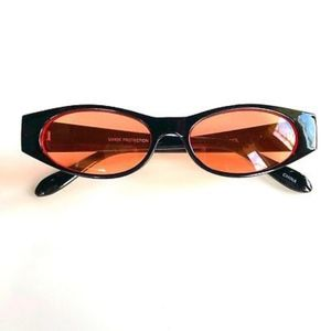 Accessories - ORANGE Retro Vintage Geometric Slim Sunglasses